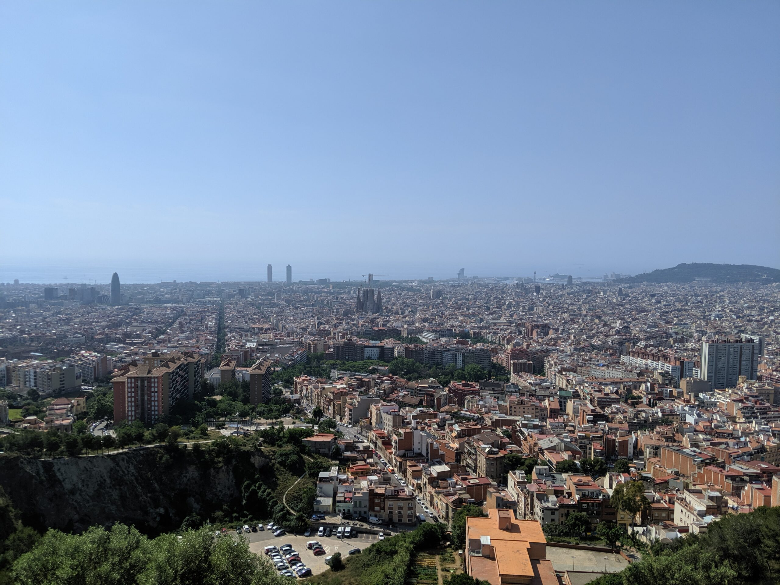 Overview of Barcelona from a high point
